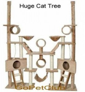 "GoPetClub Condo 106 70""W x 18""L x 92""-106""H (adjustable height) A variation on the Condo 108"